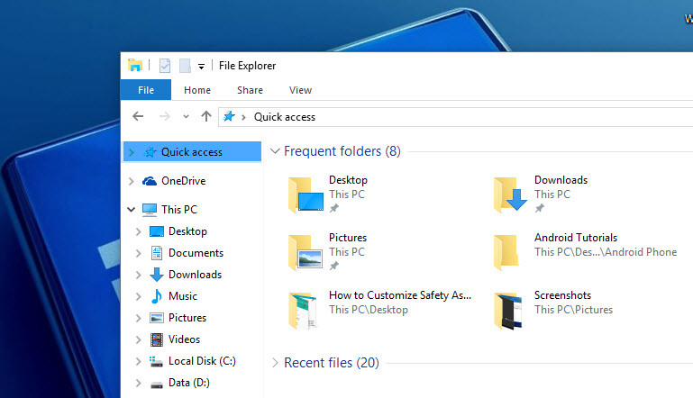 How to Change Windows 10 File Explorer Default View