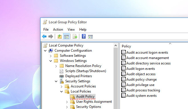 Configuring Audit Policy