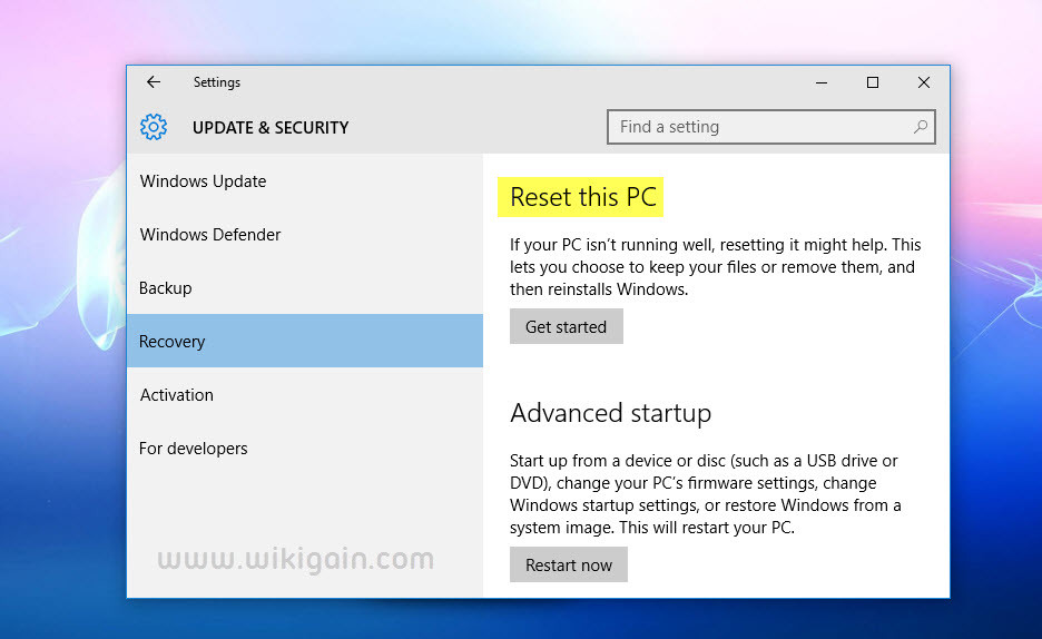 How to Reset Windows 10 PC without Losing Data