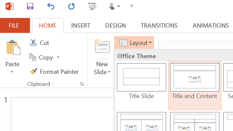 PowerPoint 2016 Home Tab