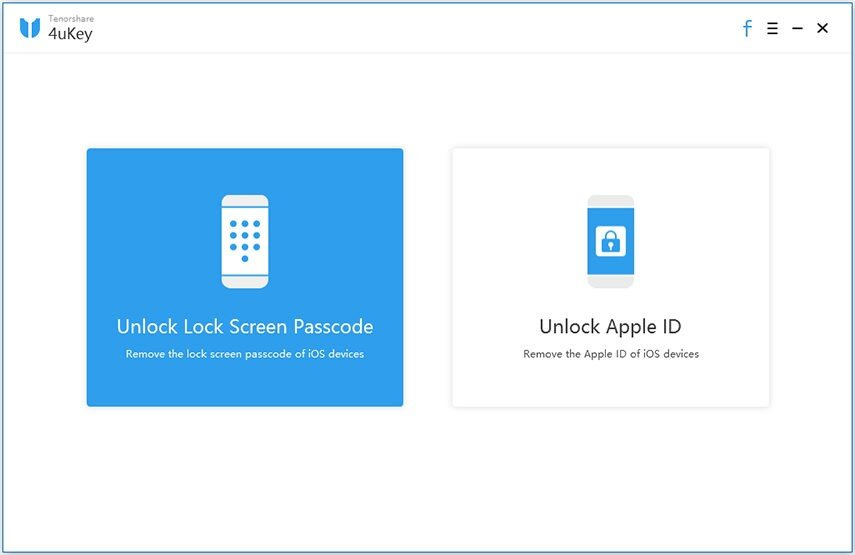 Unlock iPhone without Knowing Passcode by Tenoshare 4uKey