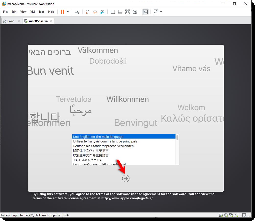 Select Language macOS Sierra 10.12.6