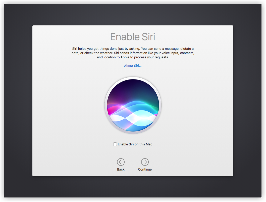 Setup Siri on macOS Sierra