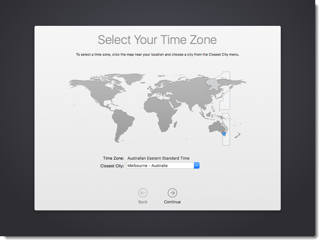 Select Your Time Zone