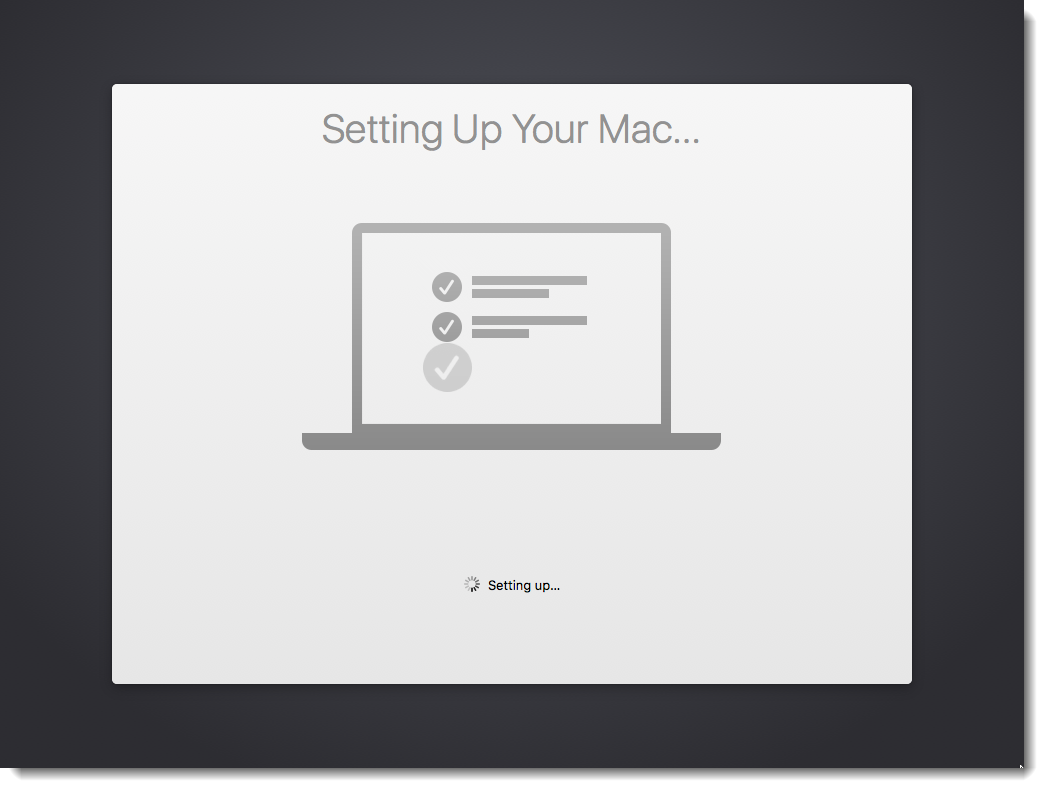 Setting Up Your Mac...