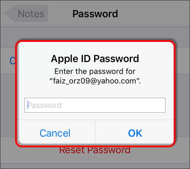 How to Reset Forgotten Notes App Password on iOS 10?
