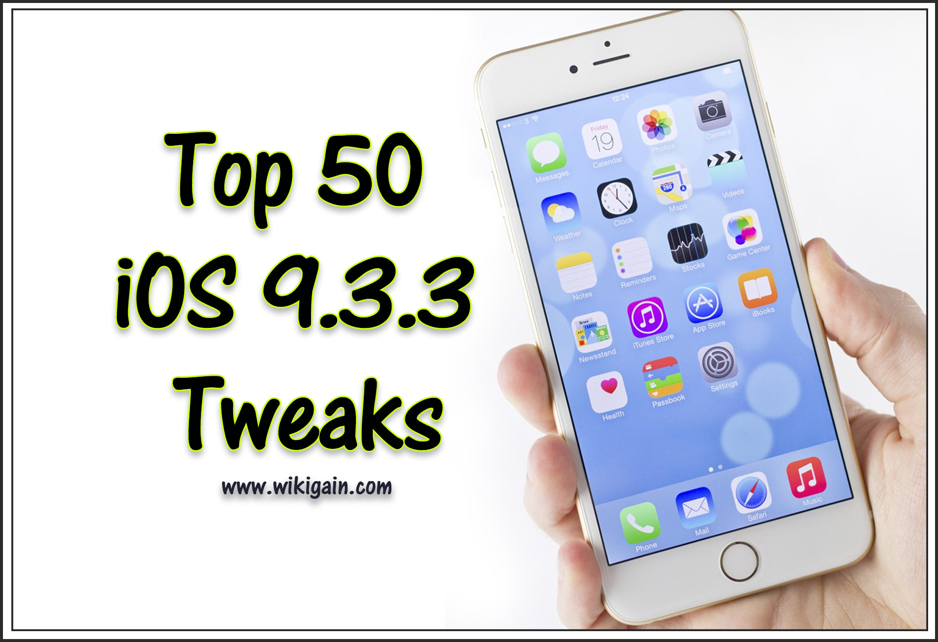 Top 50 iOS 9.3.3 Tweaks