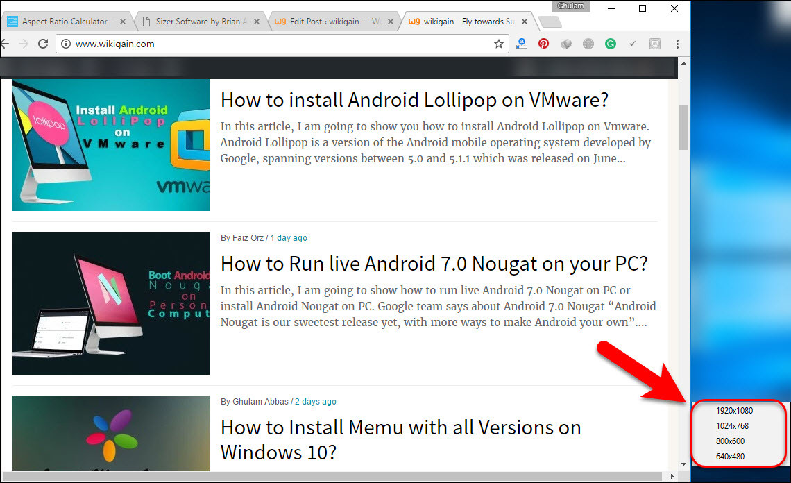 how to resize your App or Browser window?