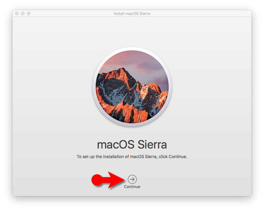 macOS Sierra Welcome Message