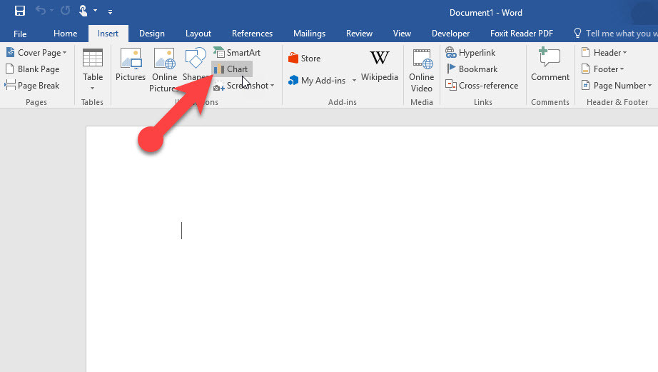 Use Charts in Microsoft Office Word 2016