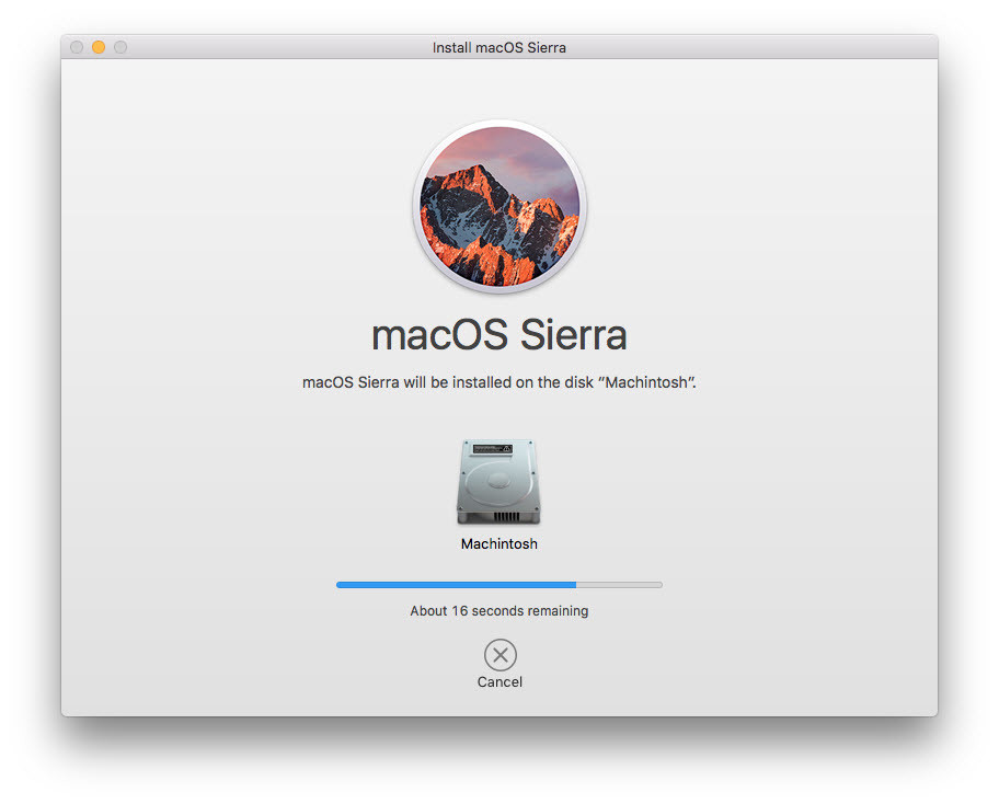 Installing macOS Sierra on MacBook Device