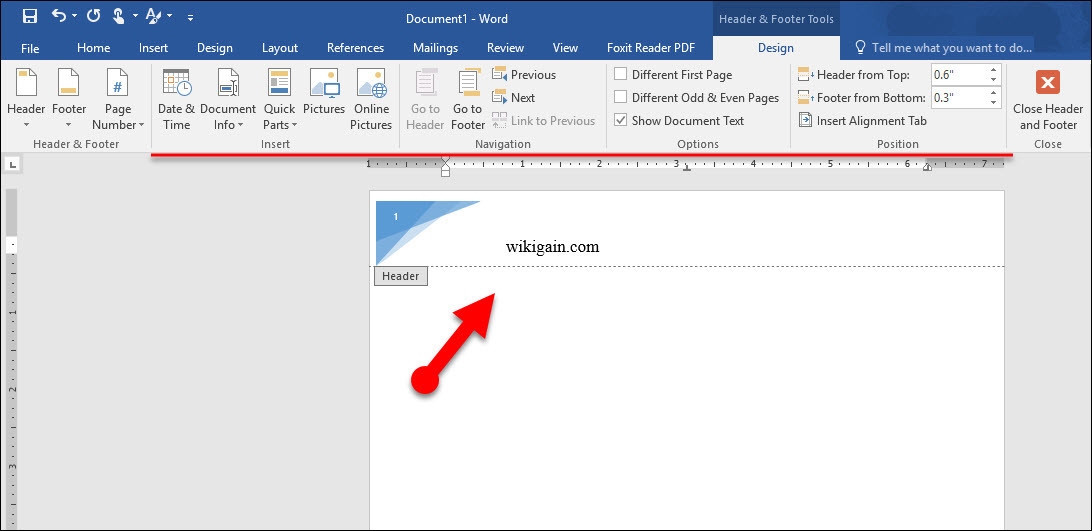 How to Use Headers and Footers in Microsoft Word 2016