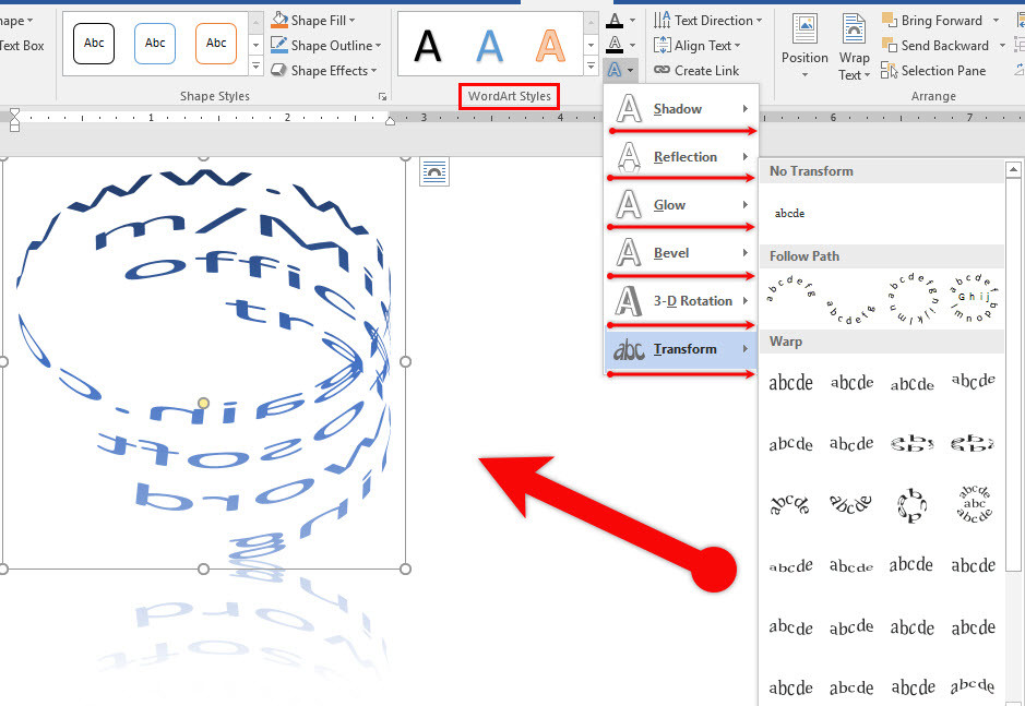 Insert WordArt and Add Drop Cap in Microsoft Word 2016