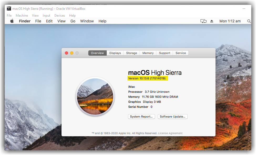 macOS High Sierra Updated to the Latest Version
