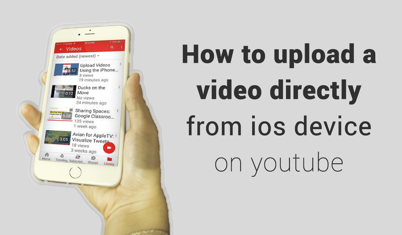 How to upload a video directly from ios device on youtube
