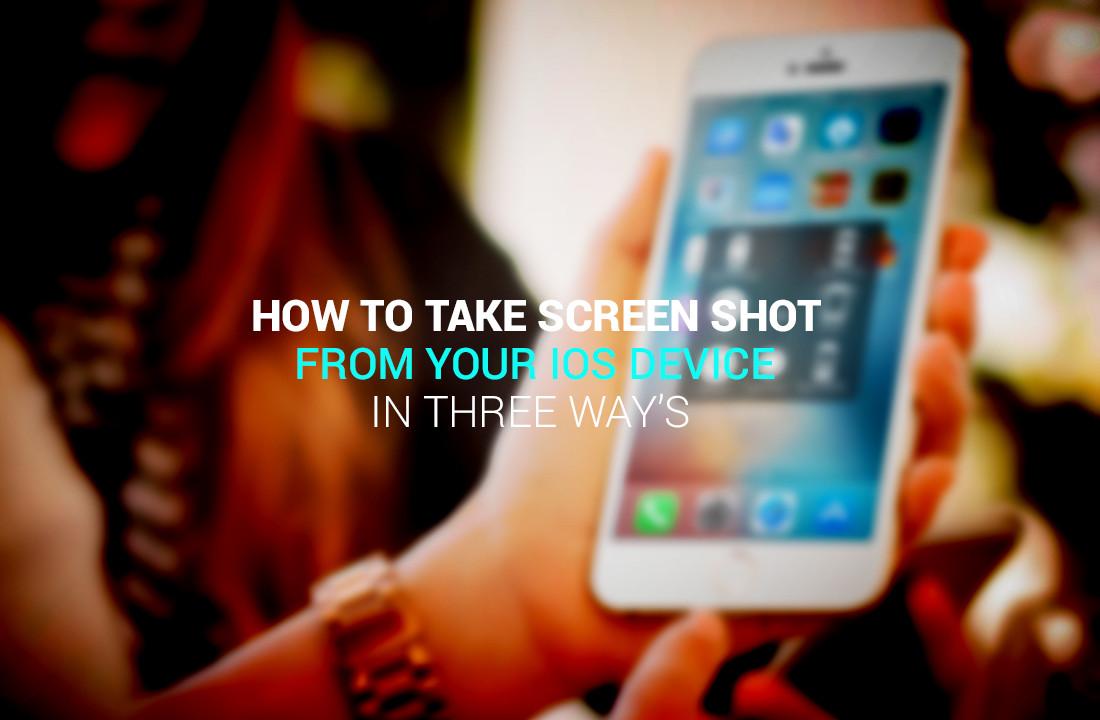 Take screen shot IOS 11