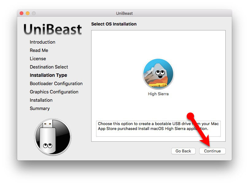 How to Create Bootable USB Installer for macOS High Sierra via UniBeast