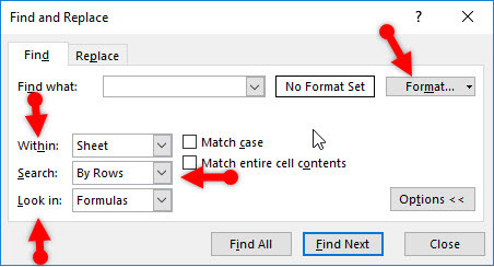 Use Find and Replace in Microsoft Excel 2016