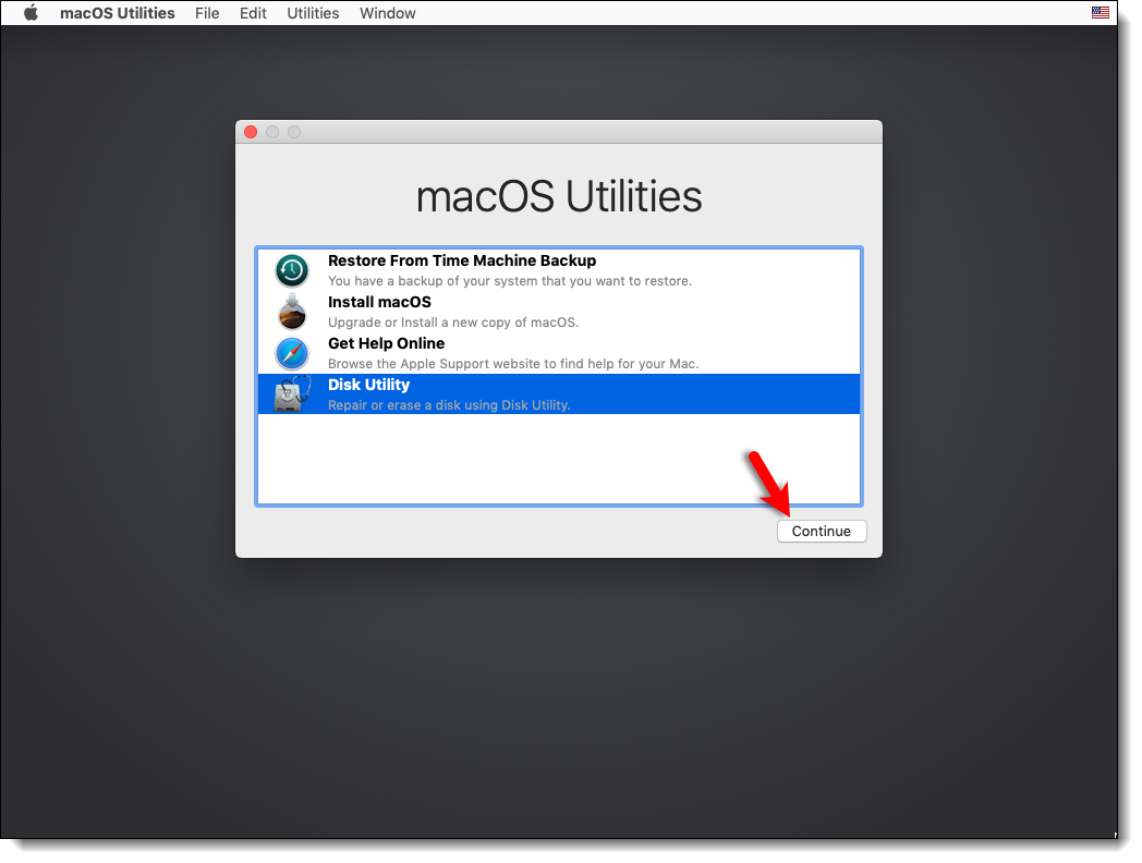 Go to Disk Utility Mojave