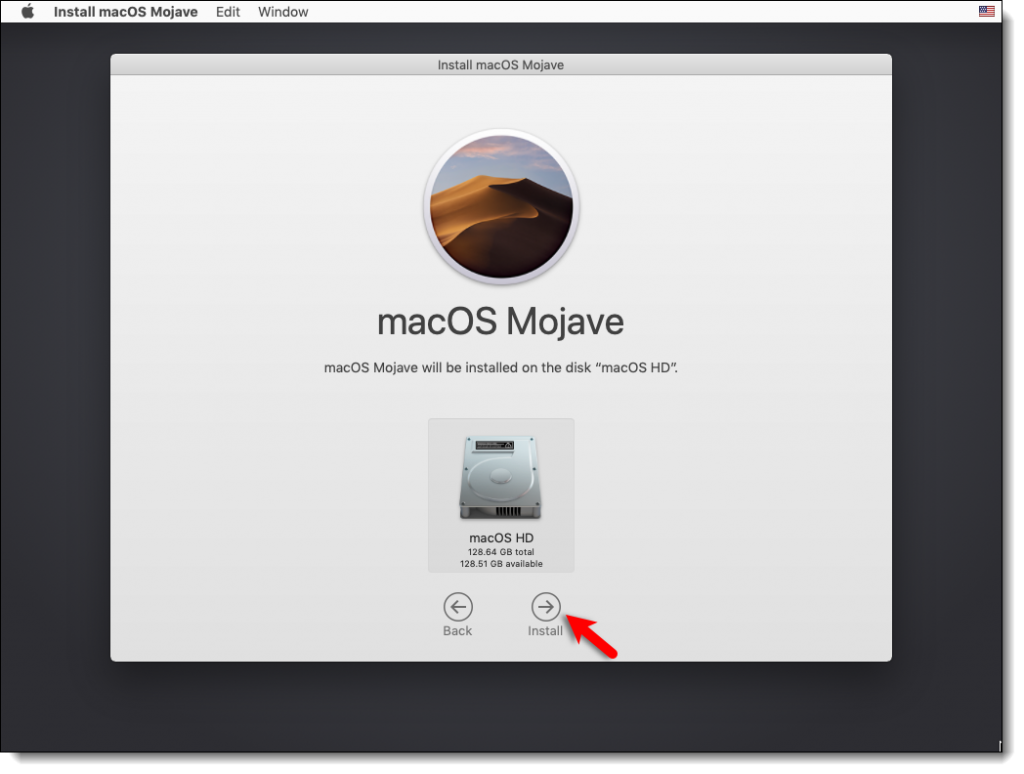 Install macOS Mojave On the VMDK