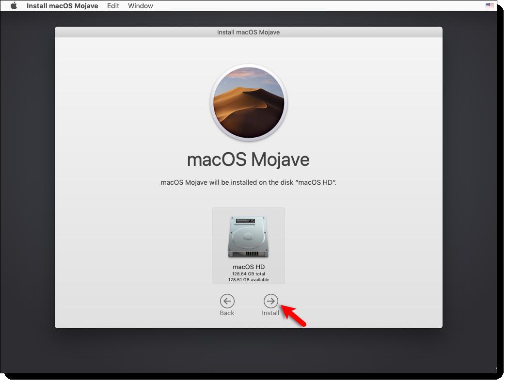 Install macOS Mojave On the VMDK