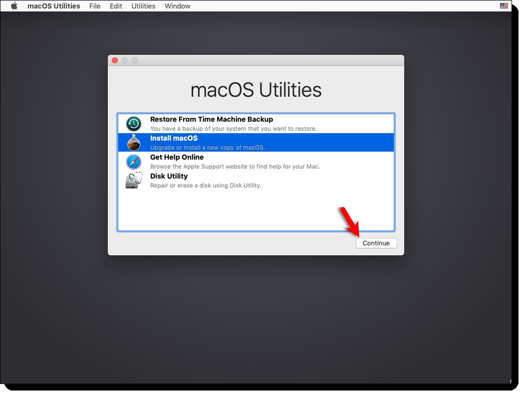 Select Install macOS Mojave