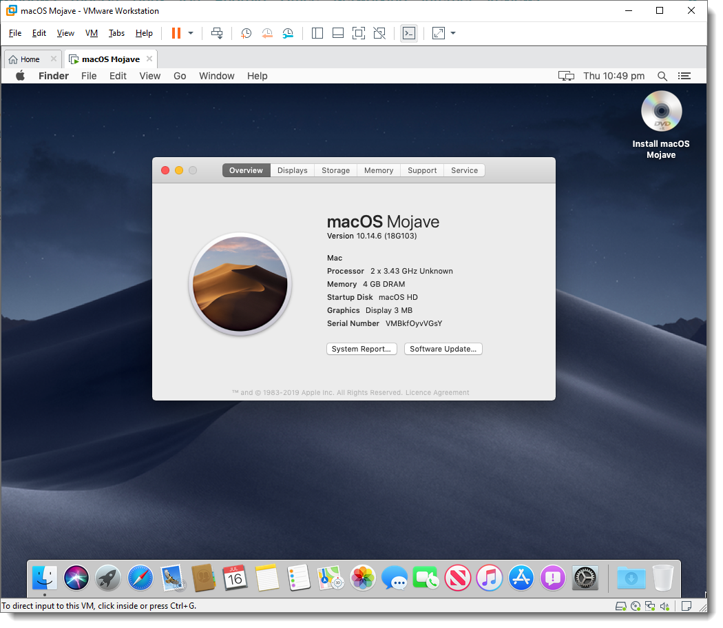 How to Install macOS Mojave on VMware on Windows 10 - PC