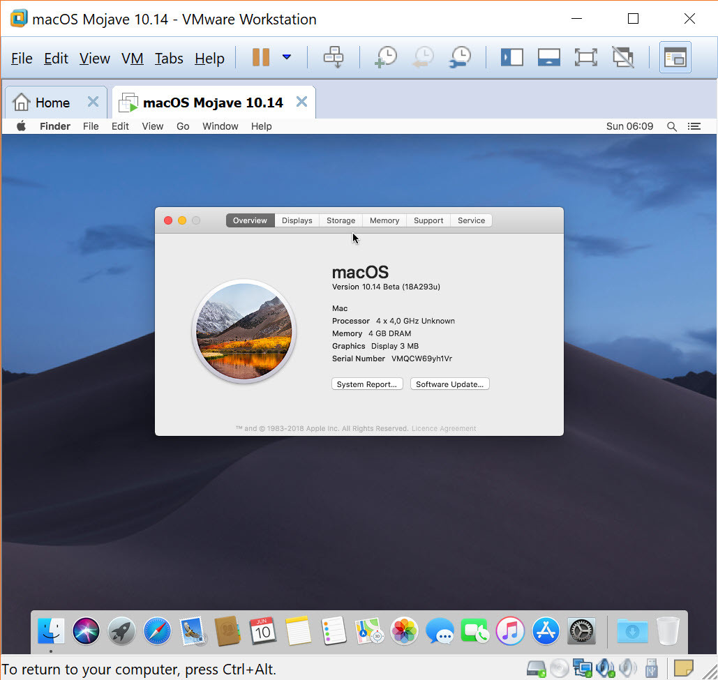 How to Install macOS Mojave on VMware on Windows - wikigain