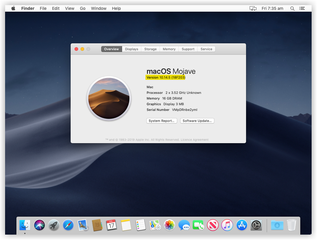 macOS Mojave Installation Completed