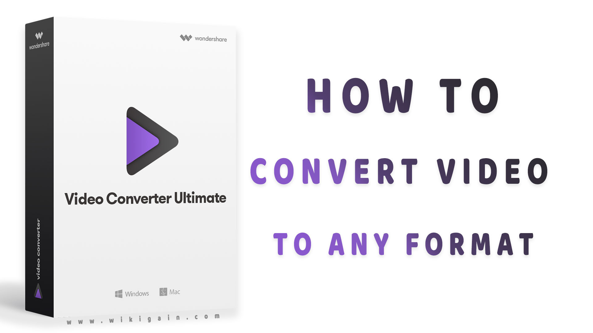 How to Convert Video to any Format -Wondershare video converter ultimate