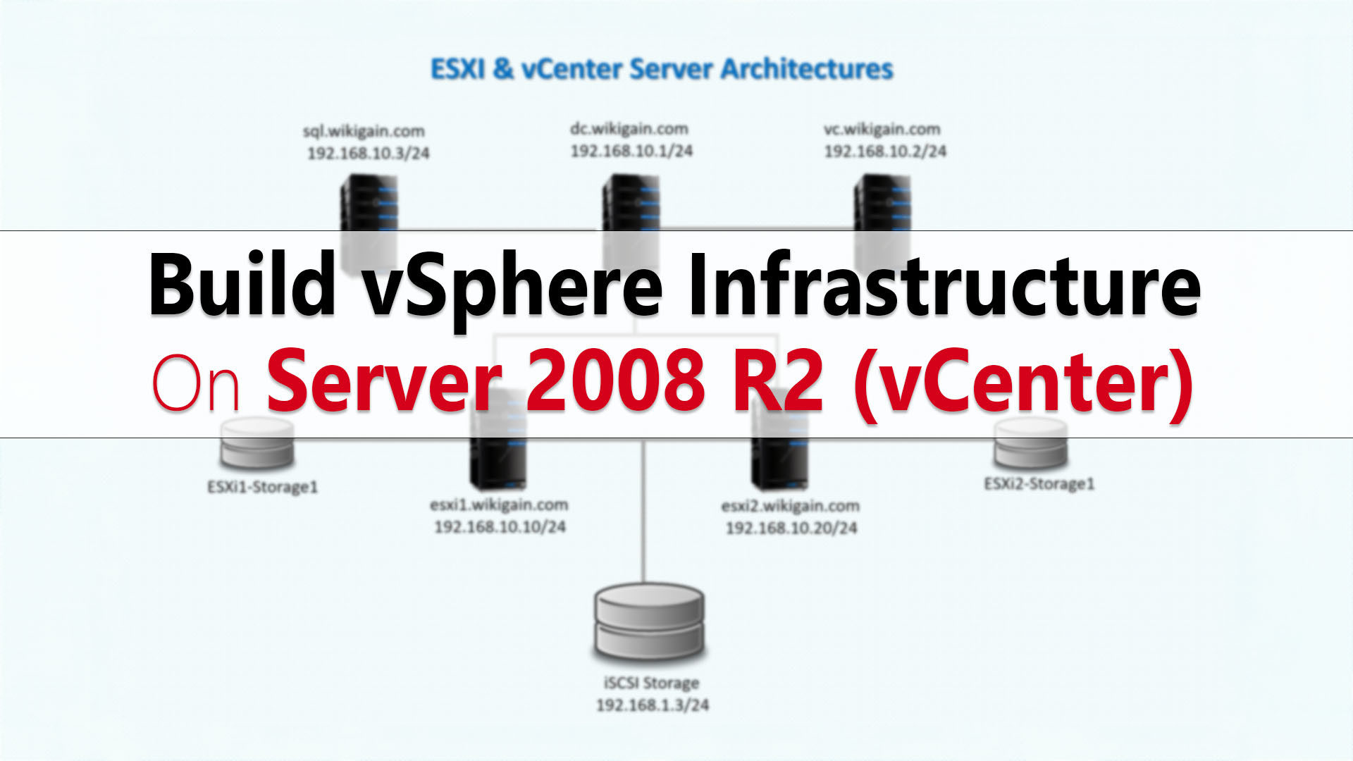 How to Build vSphere Infrastructure on Windows Server 2008 R2 vCenter Server