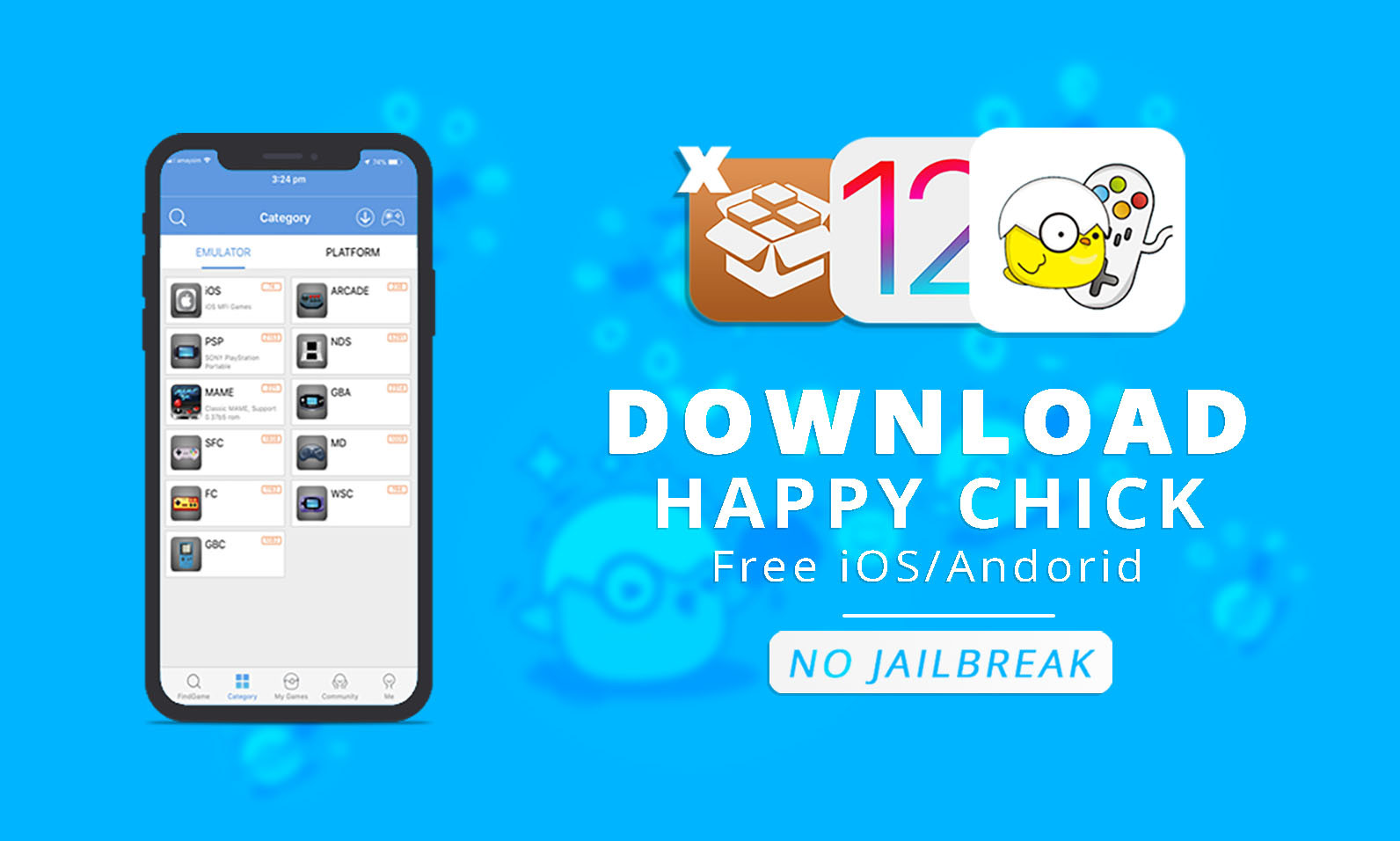 Get Happy Chick Emulator Free With Games on iOS 12.1