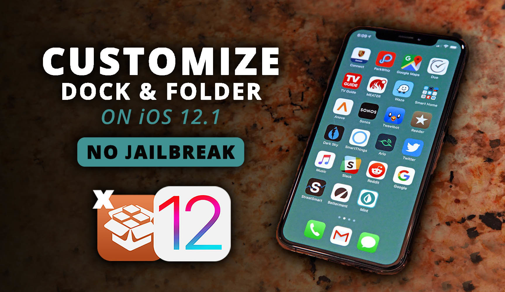 How to Customize The Dock & Folder on iOS 12.1