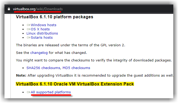 Download Virtualbox Extensions