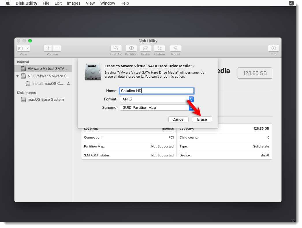Format the VMware VSHDM