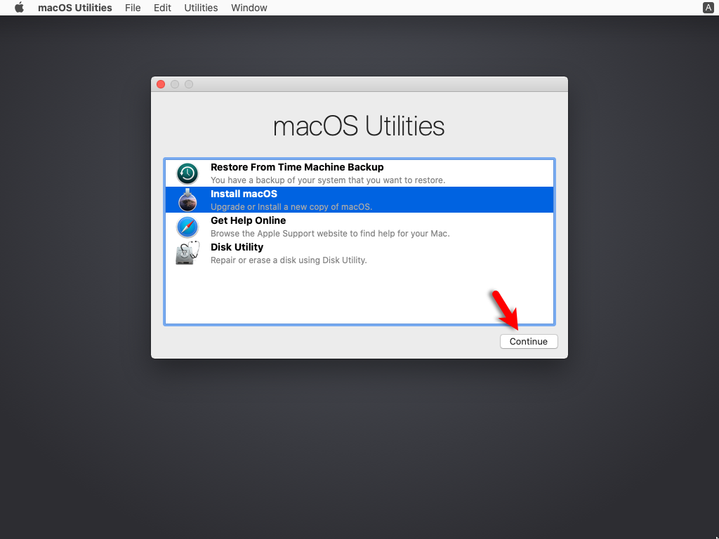 Install macOS on the VMDK