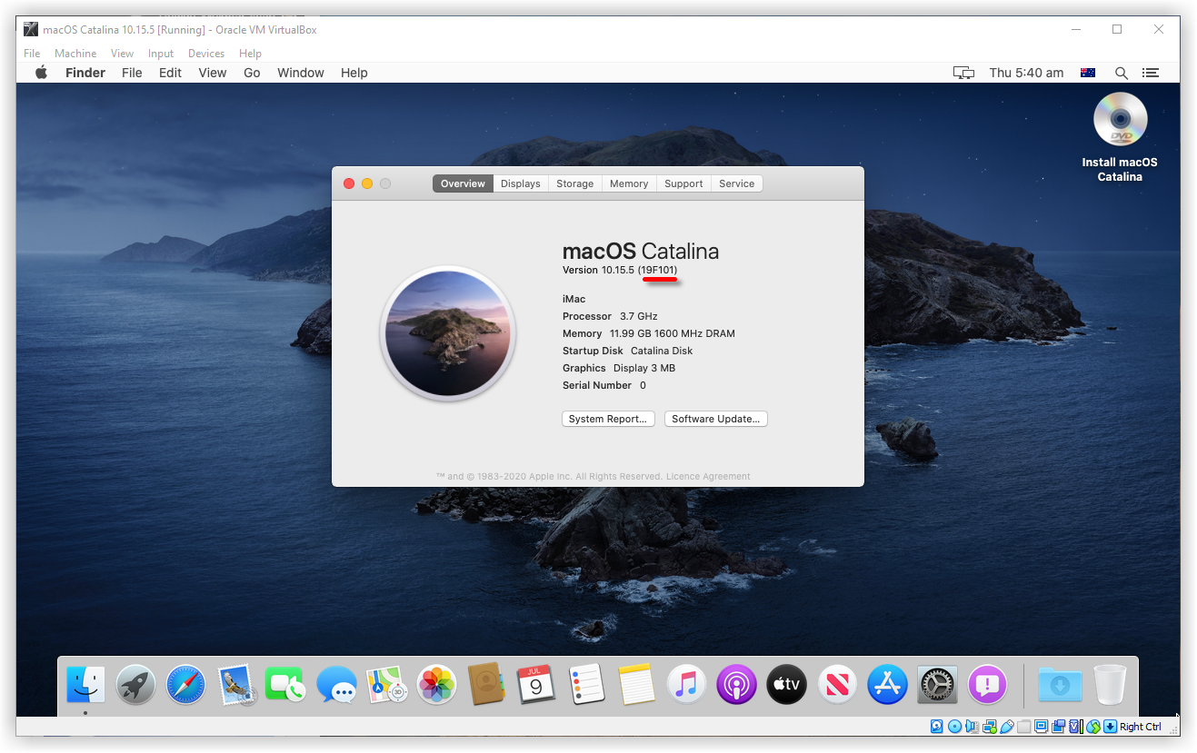 How to Install macOS Catalina on VirtualBox via ISO