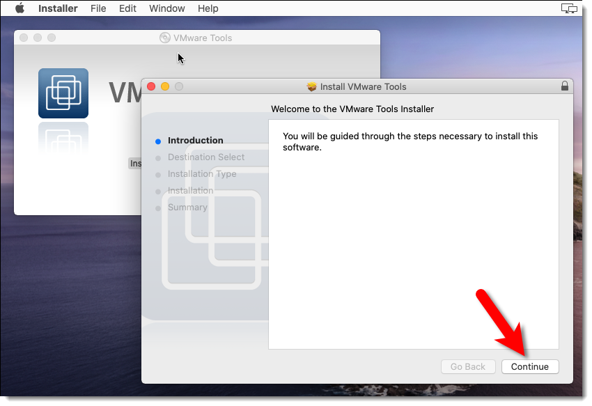 Install the VMware Tools