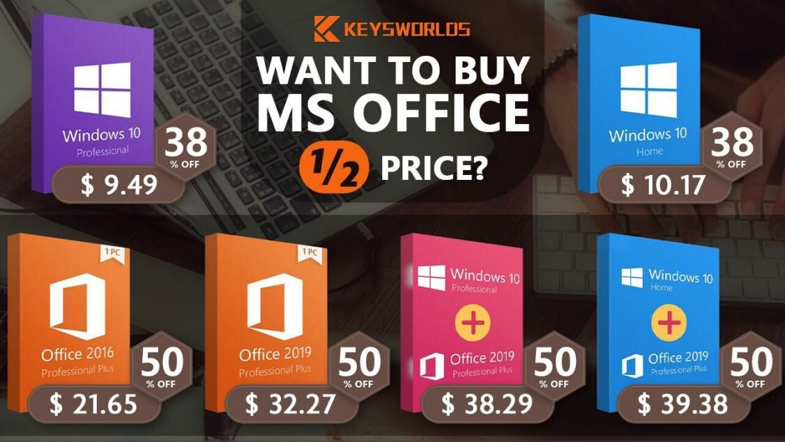 MS Office at half price! Don't miss the cheapest Office 2016/2019 in 2020