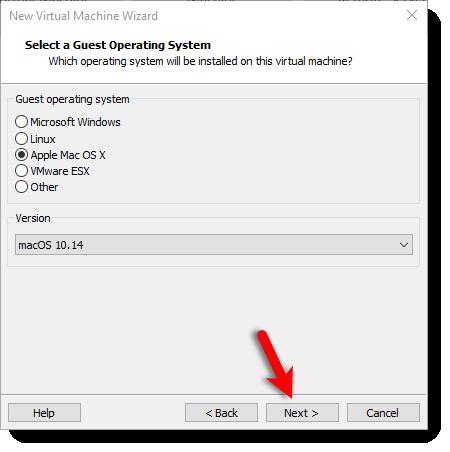 Create macOS 10.14 OS