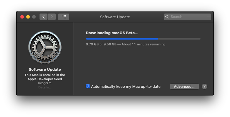 Downloading macOS Big Sur