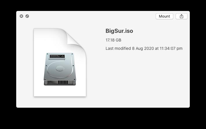 macOS Big Sur ISO Image