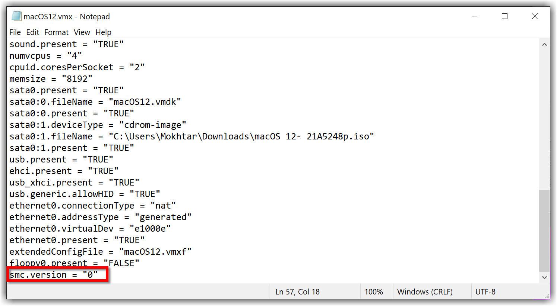 Add smc.version to VMX file