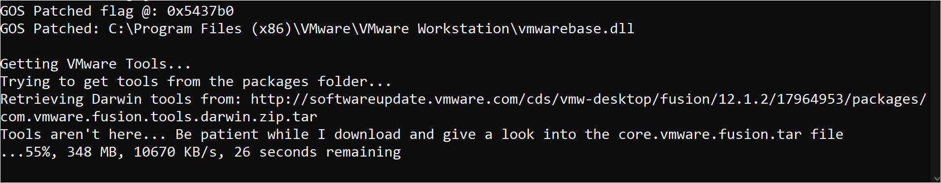 Make macOS Available in the Guest OS on VMware 01