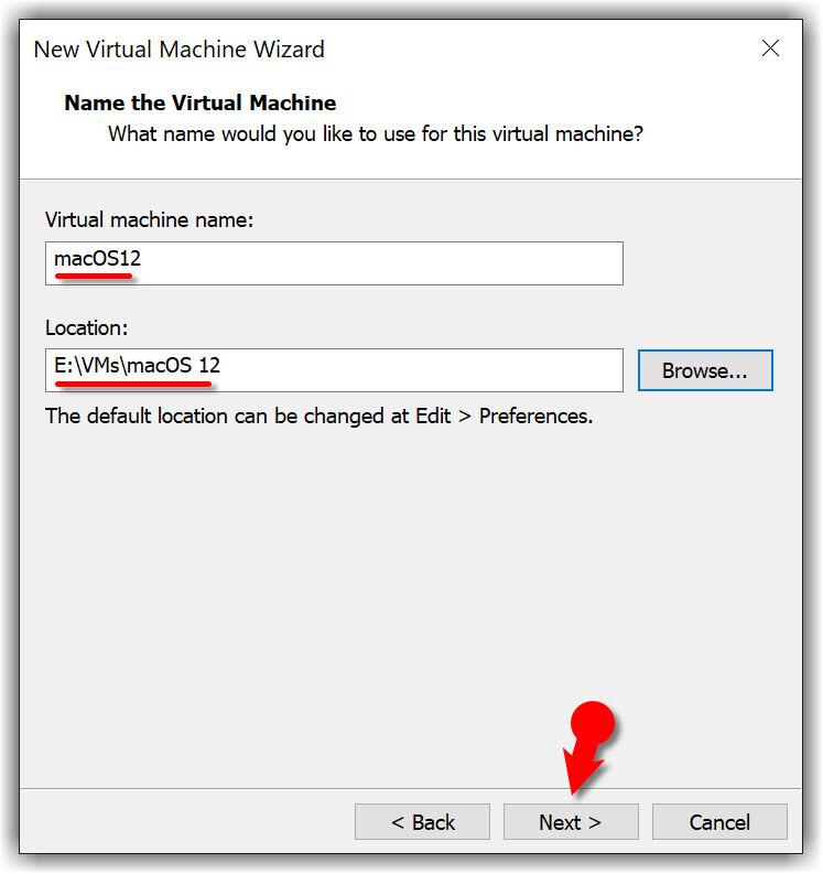 Name macOS Monterey VM