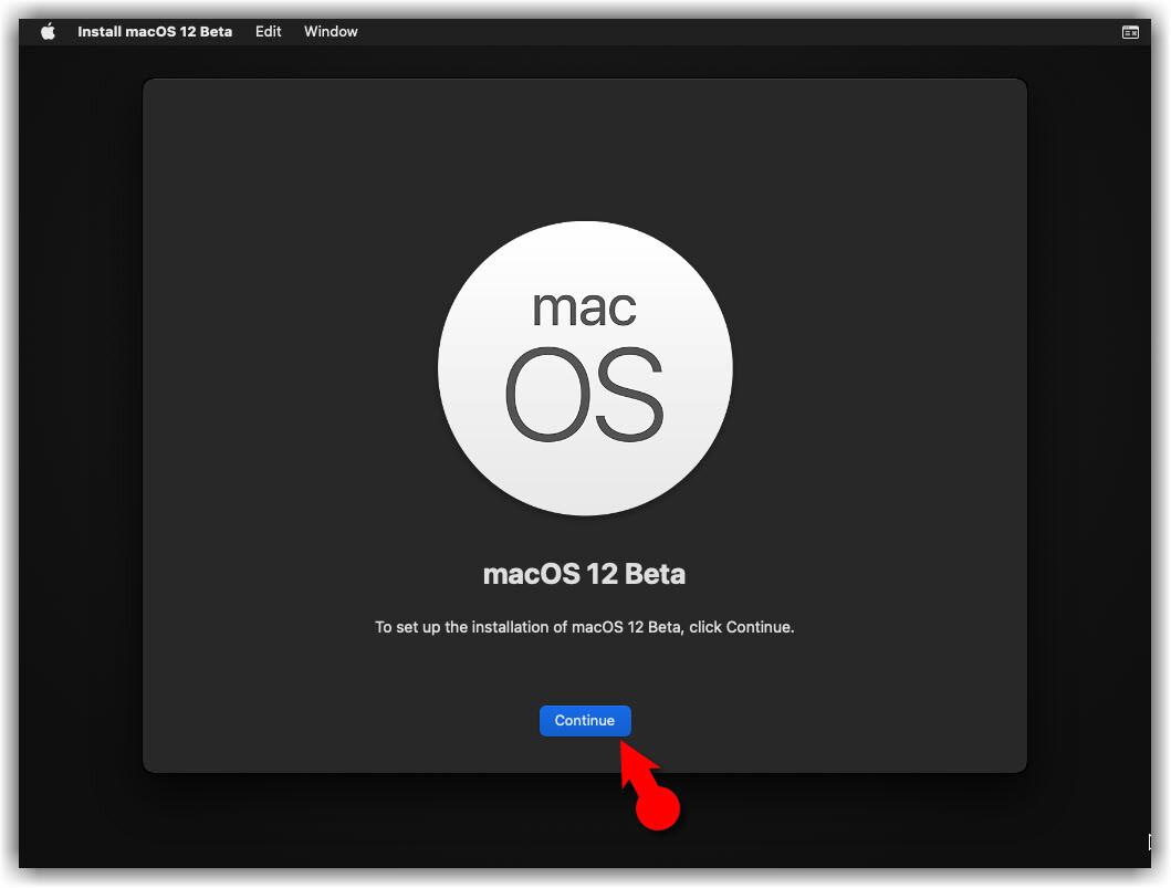 macOS 12 Beta Installation