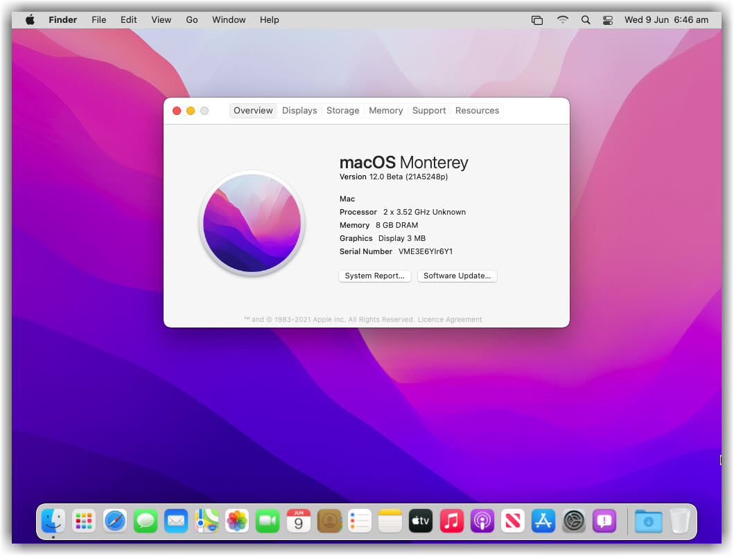 macOS Monterey Installation Completed