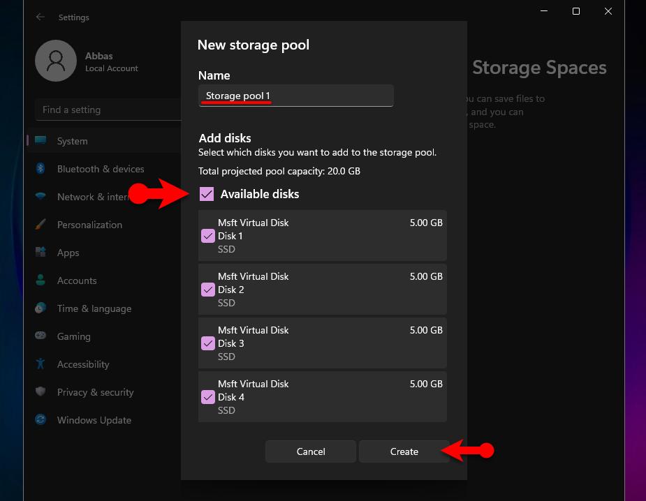 Configure RAID in Windows 11