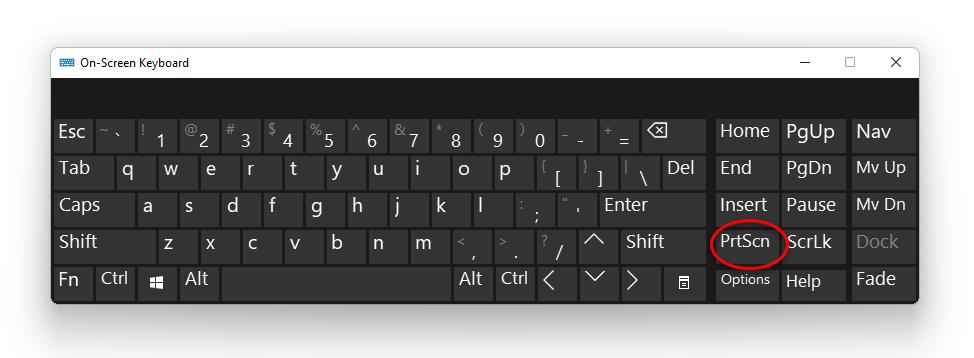 Take screenshots in Windows 11