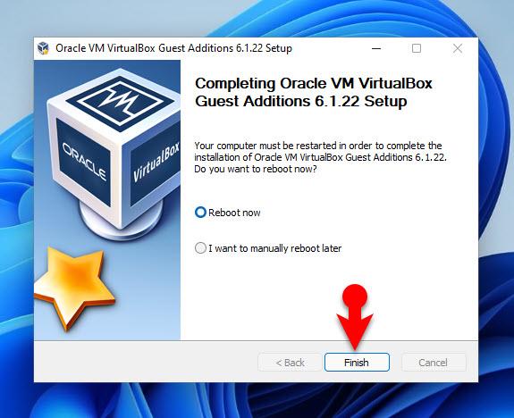 Fix Screen Size of Windows 11 in VirtualBox